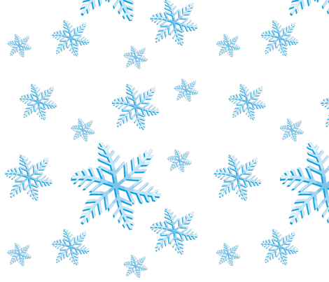Snowflakes fabric by lesrubadesigns on Spoonflower - custom fabric