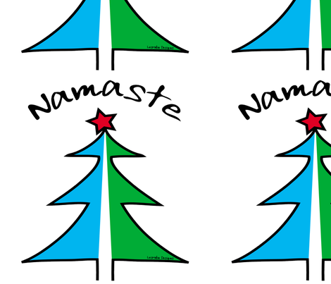 Namaste Christmas Tree fabric by lesrubadesigns on Spoonflower - custom fabric