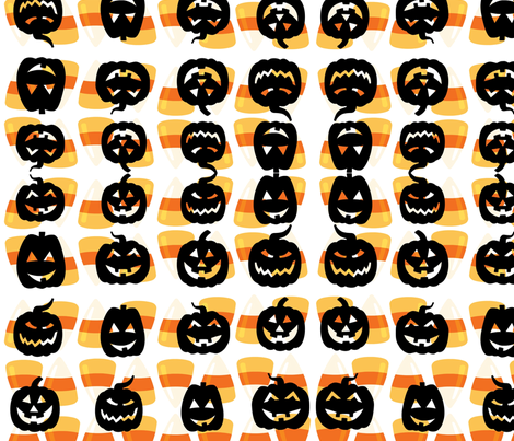 grinning jacks  fabric by beans8604 on Spoonflower - custom fabric