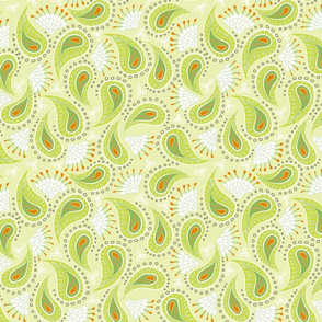 paisley - lime
