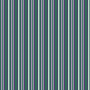 Purple stripes and dots