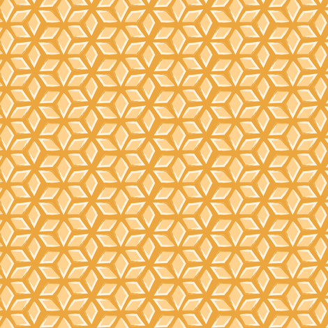 lattice - saffron fabric by fox&lark on Spoonflower - custom fabric