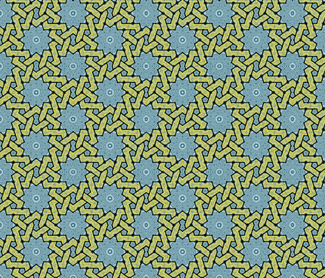 Fabric_Persia_stars fabric by vannina on Spoonflower - custom fabric