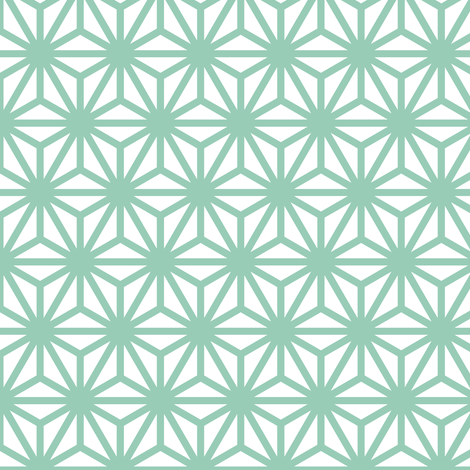 asanoha in jade fabric by chantae on Spoonflower - custom fabric