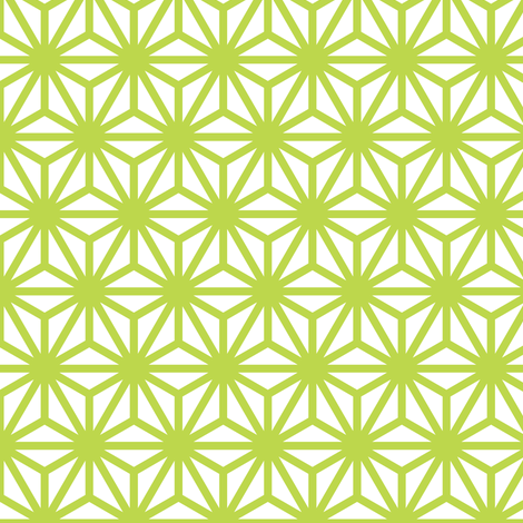 asanoha in peridot fabric by chantae on Spoonflower - custom fabric