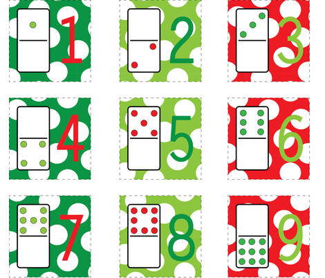 Christmas Cocktail Napkins fabric by minelliott on Spoonflower - custom fabric