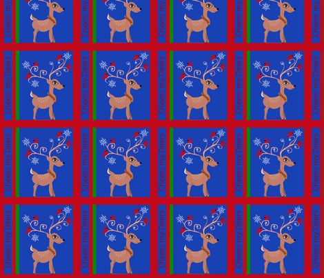 Cheers My Deers fabric by scoutmom131 on Spoonflower - custom fabric
