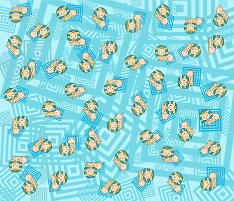 baby_boy_sphinx fabric by cairocraft on Spoonflower - custom fabric