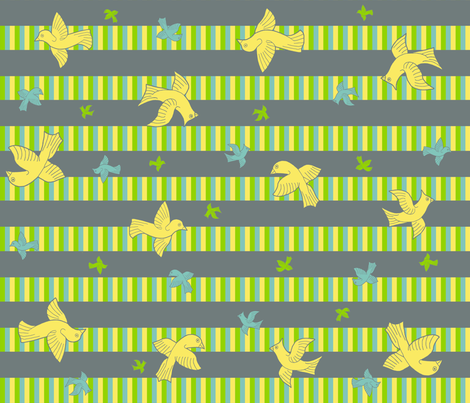  birds striped _1 fabric by flying_pigs on Spoonflower - custom fabric