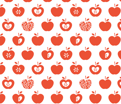Apple fabric by pattern_bakery on Spoonflower - custom fabric