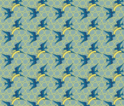 Have you ever seen the swallows play? fabric by keweenawchris on Spoonflower - custom fabric