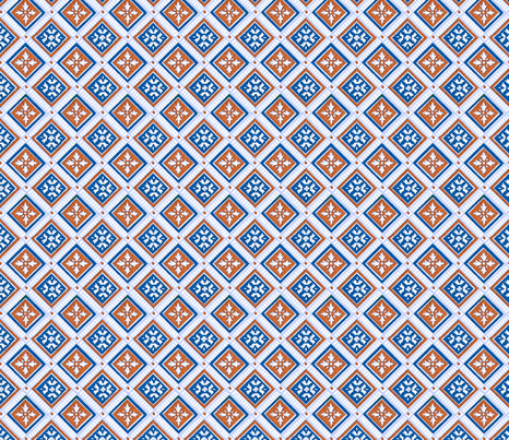Classic Squares in blue fabric by unseen_gallery_fabrics on Spoonflower - custom fabric