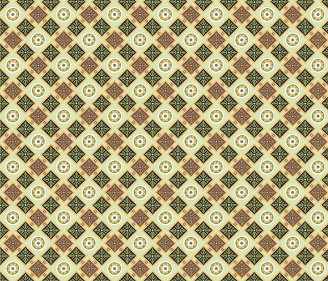 Classic geometric in greens fabric by unseen_gallery_fabrics on Spoonflower - custom fabric