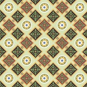 Classic geometric in greens