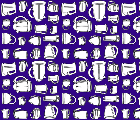 Kettle_blue_ fabric by flying_pigs on Spoonflower - custom fabric