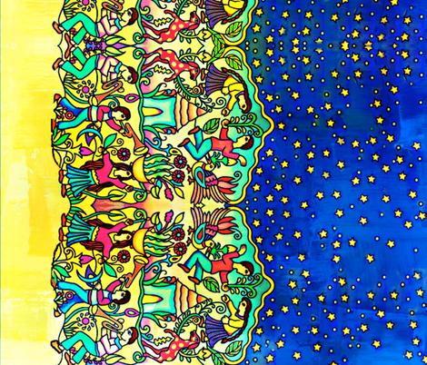 Abundant Harvest Celebration fabric by whimzwhirled on Spoonflower - custom fabric