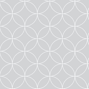 Circular Lattice / Luxe Gray Reversed