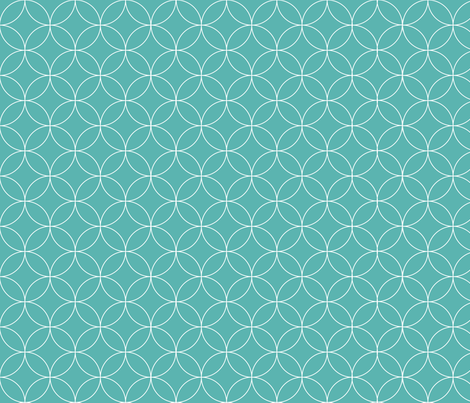 Circular Lattice / Luxe Blue Reversed fabric by megjoyclark on Spoonflower - custom fabric
