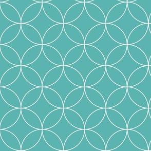 Circular Lattice / Luxe Blue Reversed