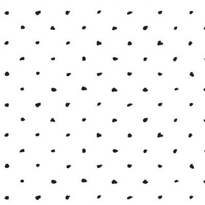 Scribble Dots / Black