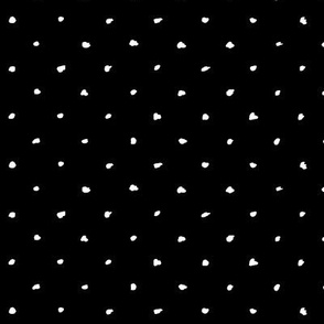Scribble Dots / Black Reversed