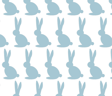 Bun Bun in Blue fabric by theten12 on Spoonflower - custom fabric
