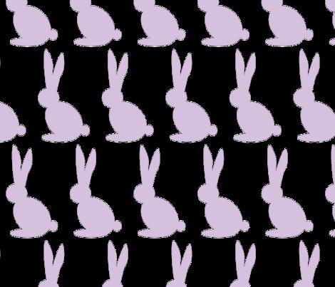 Bun bun in Purple fabric by theten12 on Spoonflower - custom fabric