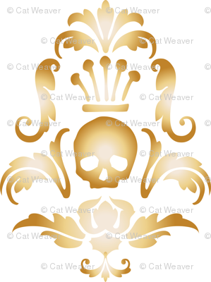 Crowned Skull-Gold