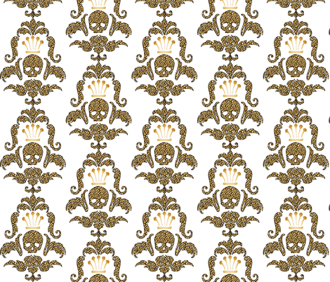 Crowned Skull-Cheetah fabric by happyhappymeowmeow on Spoonflower - custom fabric