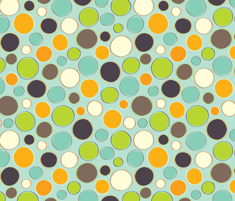Hero-saurus aqua dot fabric by jennartdesigns on Spoonflower - custom fabric