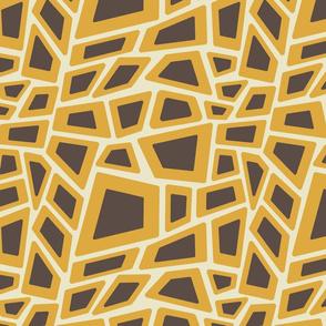 Mid-Century Modern Leopard (gold)