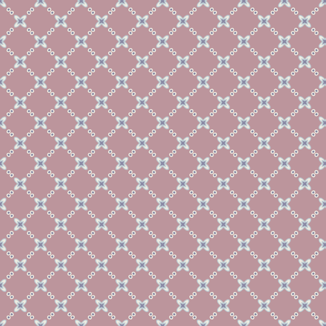 Mauve Flower Lattice fabric by jumeaux on Spoonflower - custom fabric