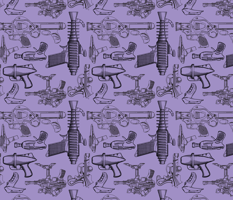 Ray Gun Revival (Purple) fabric by studiofibonacci on Spoonflower - custom fabric