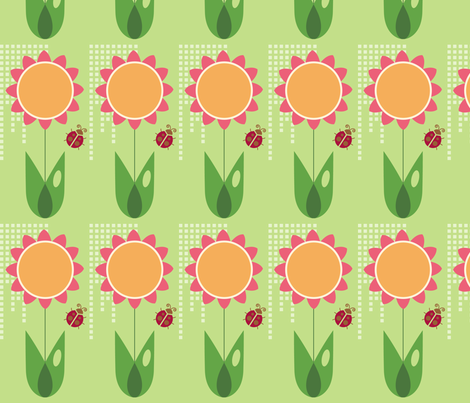 Daisy fabric by studiofibonacci on Spoonflower - custom fabric