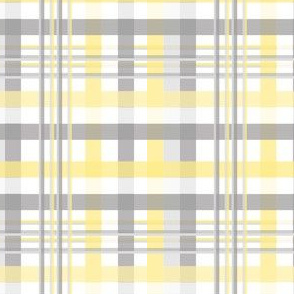 Grey and Yellow Plaid
