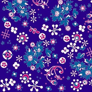 Ditsy Flora / purple