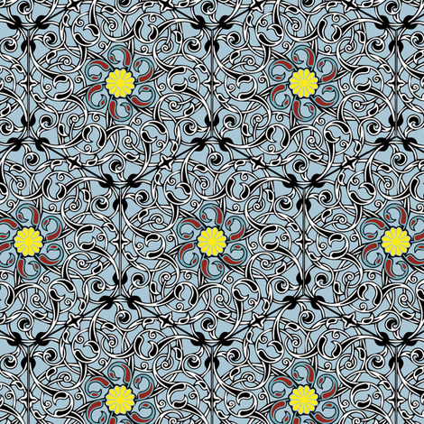 Fabric_Persia_Mosaic fabric by vannina on Spoonflower - custom fabric