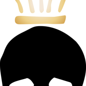 Skull & Crown-black/gold