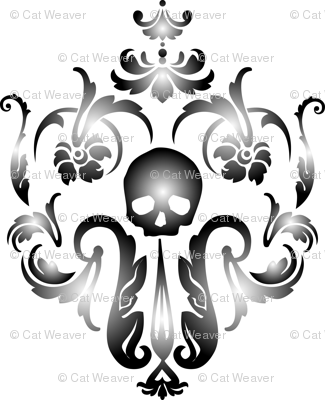 Skull-Demask Wall Decal