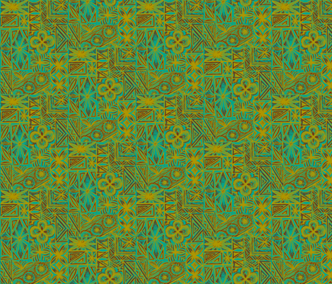 Kalakaua Ave  in mossy glow fabric by sophista-tiki_by_dawn_frasier on Spoonflower - custom fabric