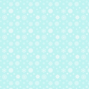 Snowflakes on aqua
