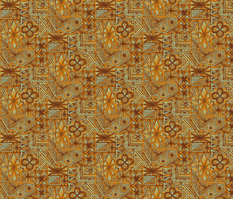 Kalakaua Ave  in volcanic earth fabric by sophista-tiki on Spoonflower - custom fabric
