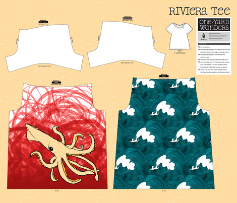 The Squid Shirt fabric by pond_ripple on Spoonflower - custom fabric