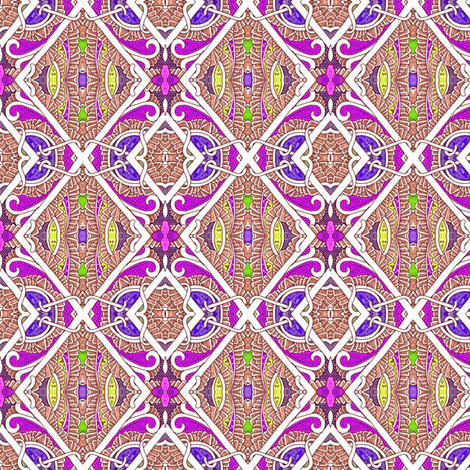 Chain Link Fiesta (a diagonal patchwork checkerboard) fabric by edsel2084 on Spoonflower - custom fabric