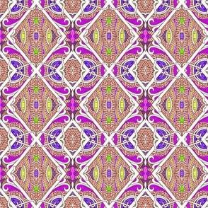 Chain Link Fiesta (a diagonal patchwork checkerboard)