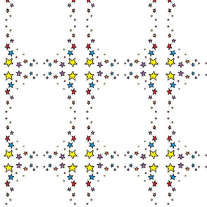 stars-rnbow plaid
