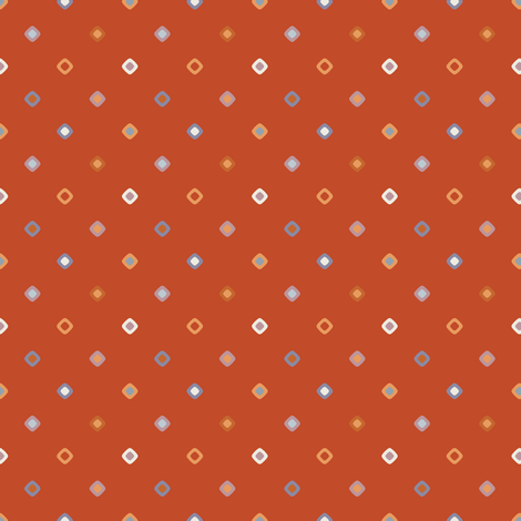 Rust Diagonal Diamond Dots fabric by jumeaux on Spoonflower - custom fabric