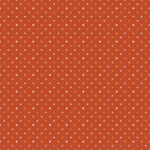 Rust Diagonal Diamond Dots