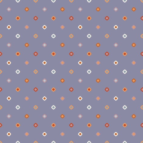 Dark Blue Diagonal Diamond Dots fabric by jumeaux on Spoonflower - custom fabric