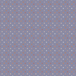 Dark Blue Diagonal Diamond Dots
